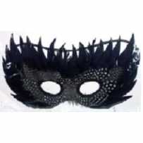 Feather Mask (Black)